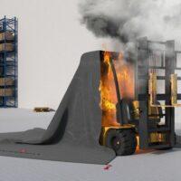 FORKLIFT tűzoltó takaró